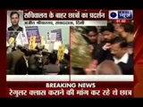 Delhi University students protest outside Delhi Secretariat for evening classes