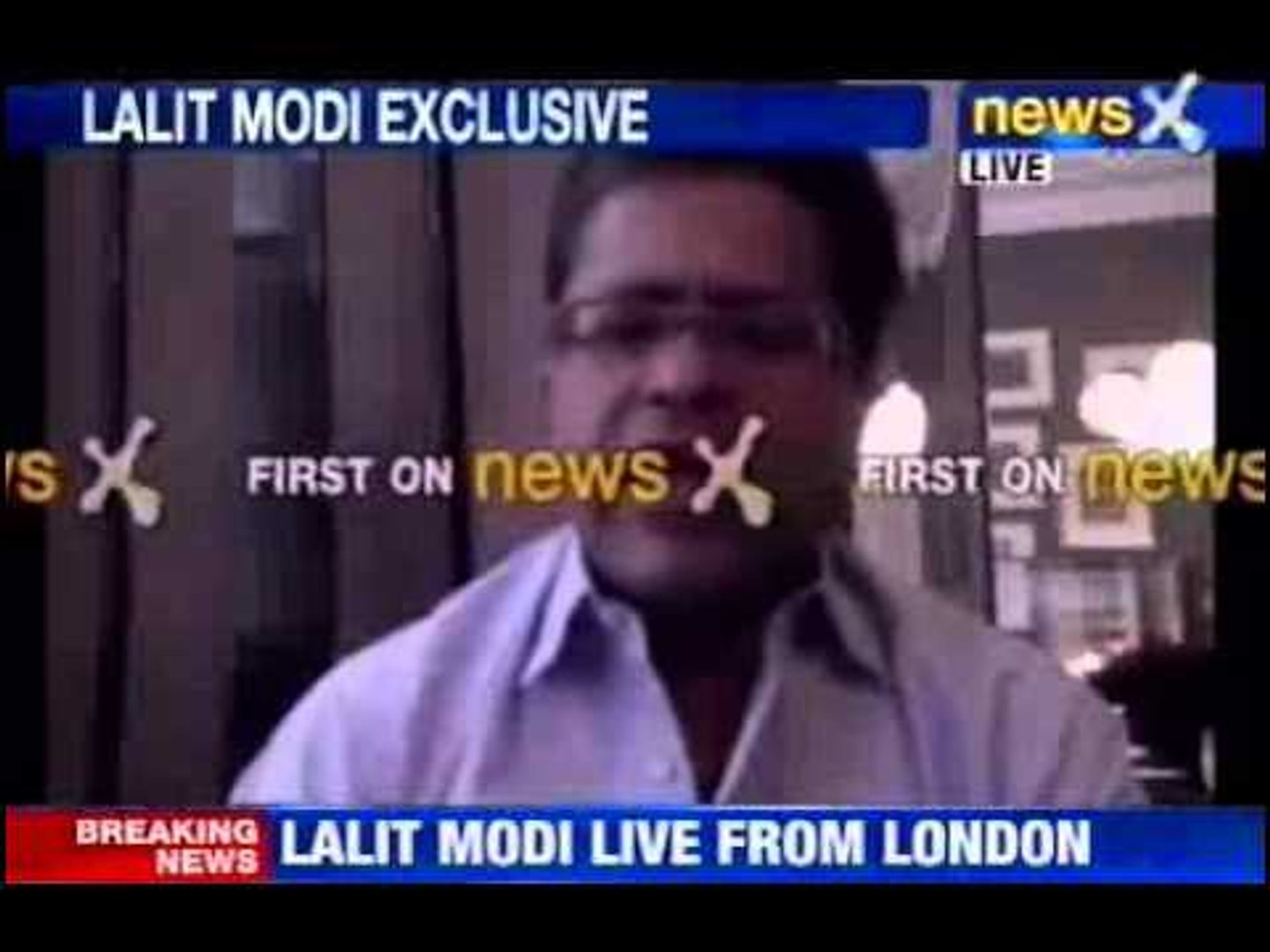 News X Exclusive : Lalit Modi live from London - Part 1