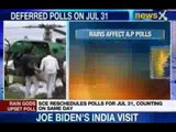 NewsX: Flood affect polls set up in Andhra Pradesh
