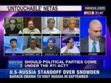 NewsX Debate: Should Political Parties come under the RTI Act?