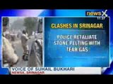 Clashes in Srinagar: Protesters clash with Police at a Mosque
