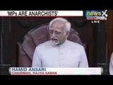 NewsX: Rajya Sabha erupts in uproar over Ansari's comments