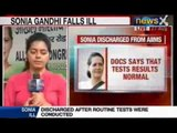 NewsX: Unwell Sonia Gandhi left Parliamnet before voting on Food Bill