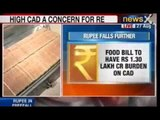 NewsX: Rupee continues its downfall, opens weak at 65.71 against Dollar