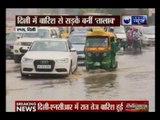 Delhi: Rainfall causes trouble for traffic near AIIMS