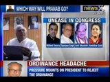 NewsX: President Pranab calls Congress ministers over Ordinance protecting convicted lawmakers