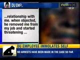 NewsX: Immolation bid by women ex-employee of DU