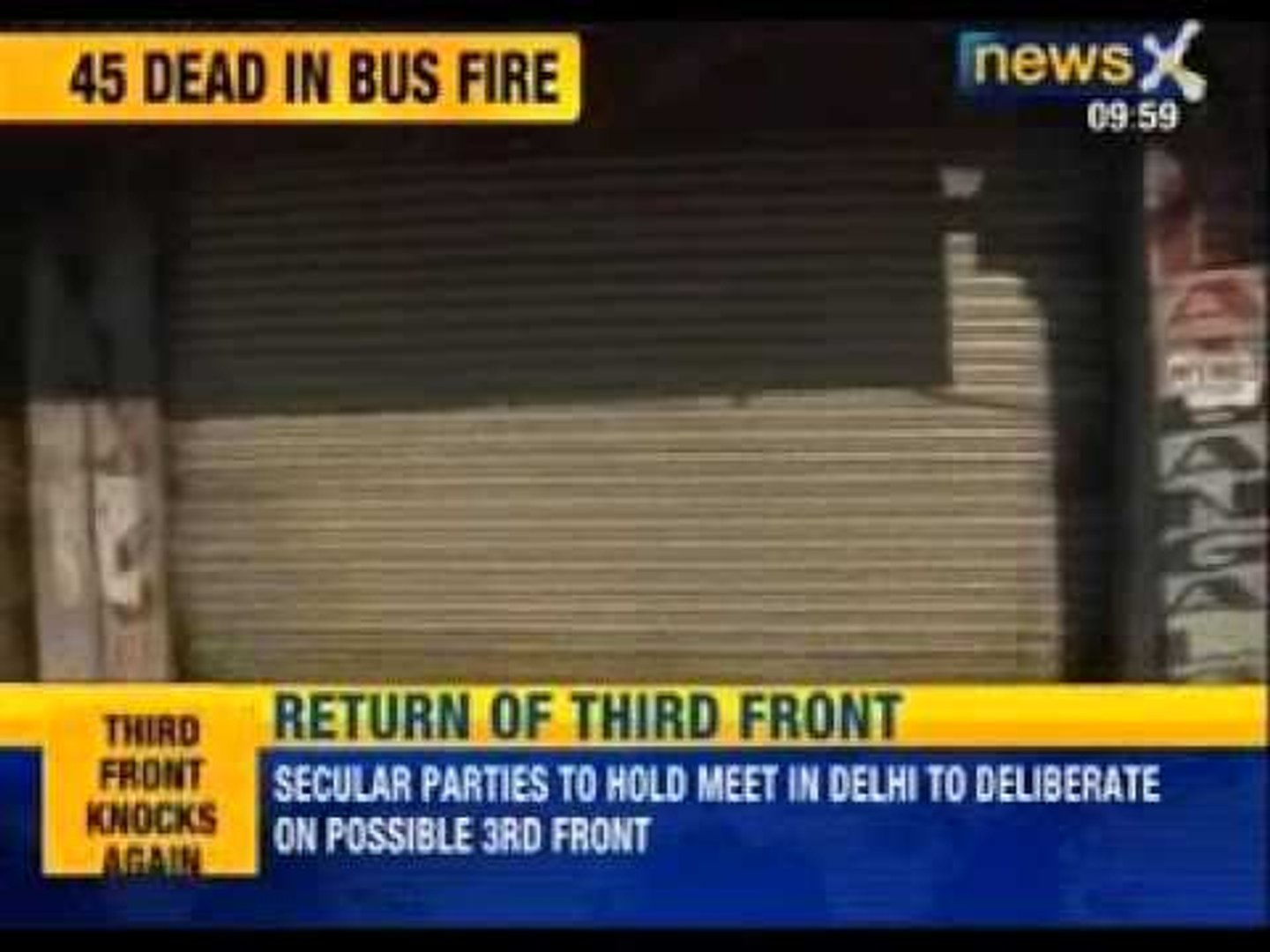 45 feared dead as bus hits oil tanker, catches fire in Andhra Pradesh - News X