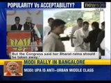 Narendra Modi draws massive crowd at Bangalore rally, BJP hopes for a resurrection - News X