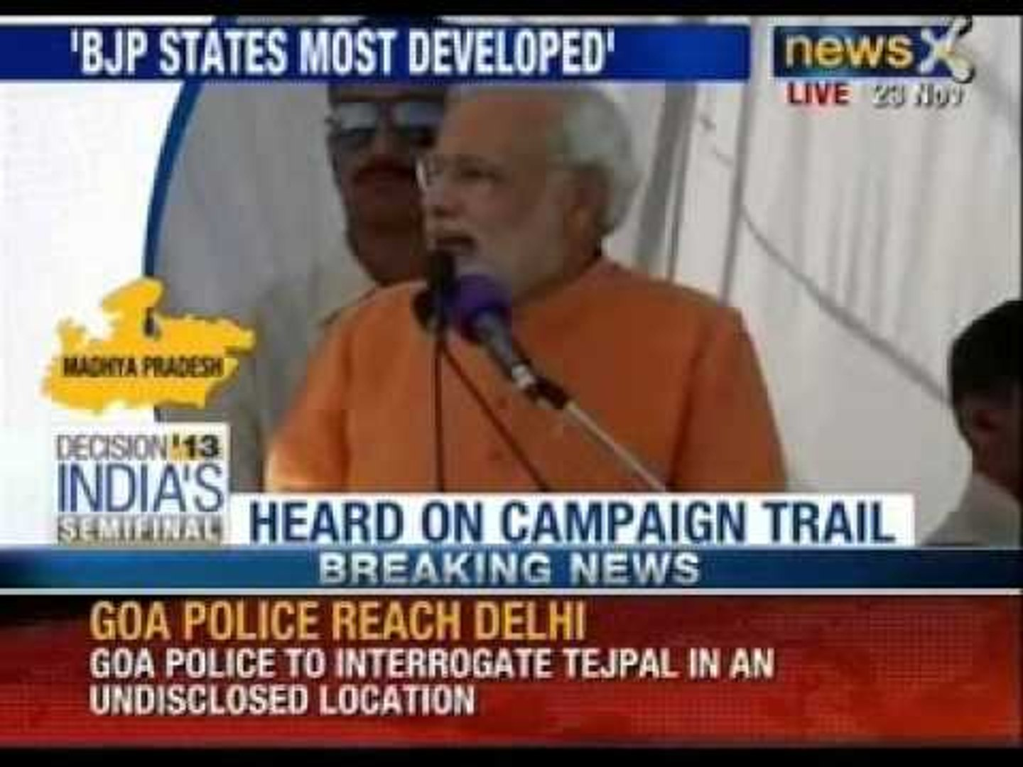 Narendra Modi addresses a rally in Madhya Pradesh - News X