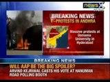 Telangana Region : Massive protest at Osmania University in Hyderabad -NewsX