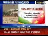 China's actual control: Chinese soldiers enter Indian Territory, pitch camps. Indian Army denies