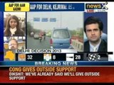 Arvind Kejriwal drives down to meet the Lt Governor in his car - NewsX
