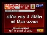 BJP President Amit Shah invites Bihar CM and JD(U) chief Nitish Kumar to join NDA.