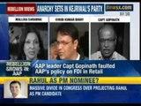 AAP member Mallika Sarabhai has criticised AAP leader Kumar Vishwas - NewsX