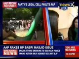 AAP rakes up Babri Masjid issue
