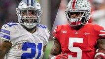 Mike Weber receives advice from Ezekiel Elliott, admires Cowboys RB