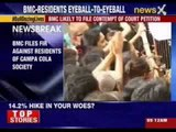 BMC files FIR against residents of Campa Cola society