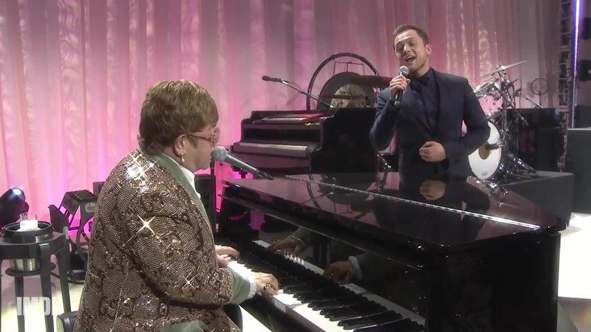 Elton John and 'Rocketman' Star Taron Egerton Sing Tiny Dancer