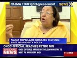 Najma Heptulla : Congress wants Muslims to feel like victims