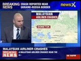 A Malaysian airline flight crashes near the Russian-Ukrainian border