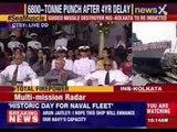 Narendra Modi inducts INS Kolkata into Indian Navy