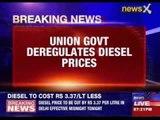 Diesel prices cut bt rupees 3.37 per litre