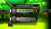 Independiente del Valle mantiene la punta en la Liga Pro tras su empate ante Liga de Quito