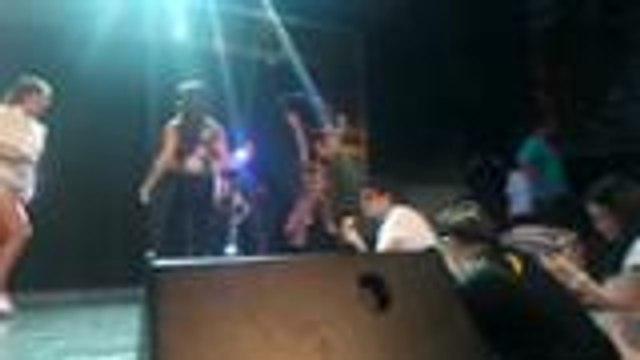 Panoorin ang rehearsals nina Jessy, Sunshine at Aiko sa kanilang hula-hoop opening number