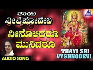Neenolidaroo | Thayi Sri Vyshnodevi | Kannada Devotional Songs | Akash Audio