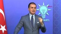 Ankara ? AK Parti Sözcüsü Ömer Çelik, Ysk'nın İstanbul Kararını Değerlendirdi