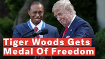 Tiger Woods Receives Standing Ovation After President Trump Awards Him Medal Of Freedom