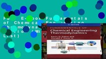 SI Edition Fundamentals of Chemical Engineering Thermodynamics