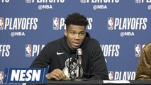 Giannis Antetokounmpo On Pressure Of Playing Deep In NBA Playoffs