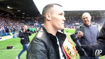 'YOU'RE STANDING THERE LOOKING BRAVE' - JOSH WARRINGTON ATTEMPTS TO TAUNT KID GALAHAD AT ELLAND ROAD