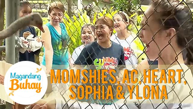 Ostrich feeding with AC, Ylona, Heart, Sophia and moshies | Magandang Buhay