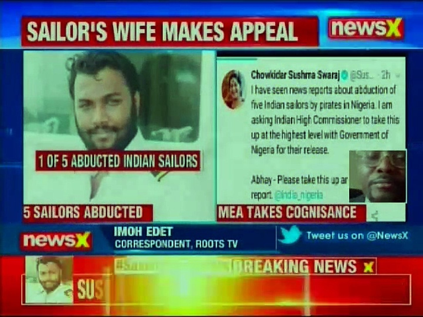 Nigerian Reporter on EAM Sushma Swaraj claim of 5 Indian sailors abducted in Nigeria by pirates