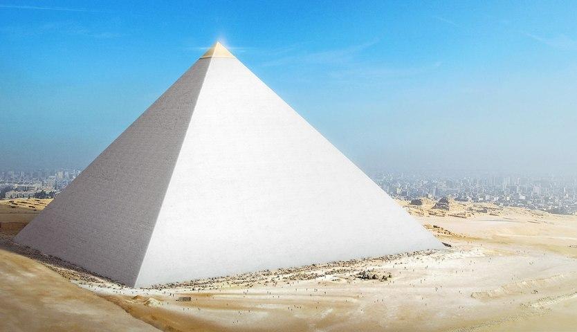 Así serían las pirámides de Gizeh  si no se hubieran destruido