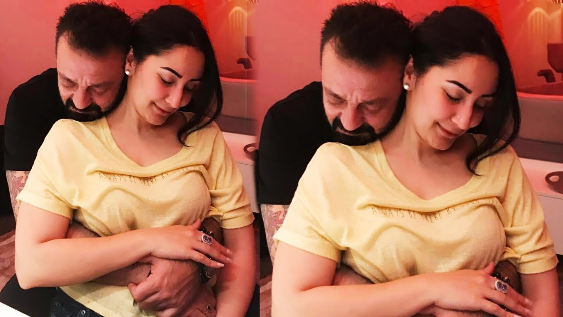 LOVE BONDING Between Sanjay Dutt And His Wife Manyata Dutt - Unseen Videos And Pics