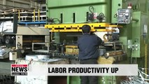 S. Korea's labor productivity increased in 2018, mainly due to reduced work hours
