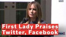 Melania Trump Praises Twitter, Facebook As 'True Partners'