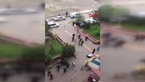 Karabük Adliye Önünde Akraba İki Kadın Arasında Kavga