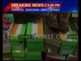 Tricolour used as boxes for shoes by Chinese company