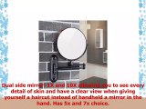 GURUN Wall Mounted Mirror Double Sided With 10X MagnificationOilRubbed BronzeNo