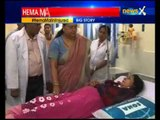 Hema Malini road accident: Vasundhara Raje meets actress, injured at Jaipur hospital