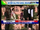 Families of martyrs lay wreath at the memorial