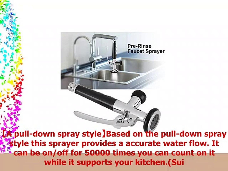 Fdit PreRinse Sprayers Brass Swivel Sink Pull Down Spray Head Valve Replacement Part for