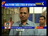 Delhi Health Minister is visiting hospitals in Delhi to take stalk of the situation