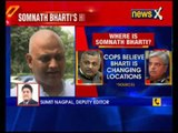 AAP leader Somnath Bharti hiding somewhere near Agra: Delhi Police