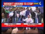 Delhi demolition drive: Youth Congress protest against Railway Ministry